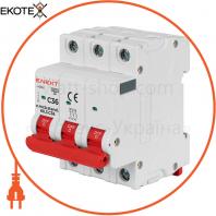 Модульний автоматичний вимикач e.mcb.stand.60.3.C36, 3р, 36А, C, 6кА