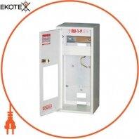 Шкаф распределительный e.mbox.RU-1-P-Z/О мет. навесной, 1-ф. счетчик,6 мод. замком окном, 395х175х165 мм