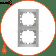 Рамка 2-а вертикальна б/вст 701-1010-152 Колір Сірий металік 10АХ 250V~