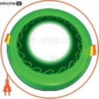 DownLight с подсветкой 6+3W встраиваемый круг, волна зеленый