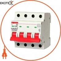 Модульный автоматический выключатель e.mcb.stand.45.4.C20, 4р, 20А, C, 4,5 кА