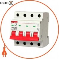 Модульный автоматический выключатель e.mcb.stand.45.4.C32, 4р, 32А, C, 4,5 кА