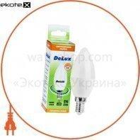 лампа светодиодная DELUX BL37B 5 Вт 4100K 220В E14 белый