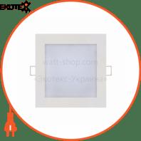 Панель встроенная LED 9W 2700K 540Lm 165-260V 146мм. квадратная белая