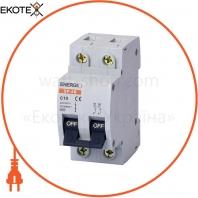 Автоматический выключатель ENERGIO SP 2P C 10А 4.5кА