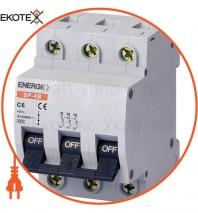Автоматический выключатель ENERGIO SP 3P C  6А 4.5кА