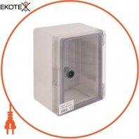 Корпус ударопрочный с АБС-пластика e.plbox.180.240.130.tr, 180х240х130мм, IP65 с прозрачной дверью