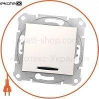 Sedna Переключатель 1 полюсный двунаправленный с 10AX индикатором, без рамки кремовый