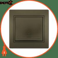Кнопка звонка 701-3131-103 Цвет Светло-коричневый металлик 10АХ 250V~