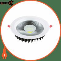 Светильник встраиваемый LED 30W 6400K 2205Lm 85-265V d-225мм белый круг.