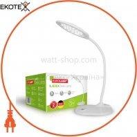 EUROLAMP LED Светильник настольный металлический + стекло в стиле хайтек 5W 5300-5700K белый