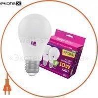 Комплект ламп светодиодных стандартных B60 PA10 10W E27 4000K 175-250V алюмопл. корп. 2шт. 18-0147