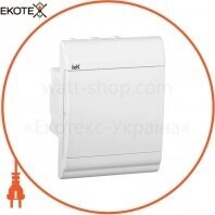 Бокс ЩРВ-П-4 модуля встраиваемый пластик IP41 PRIME белая дверь IEK