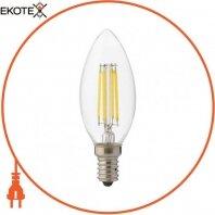 Лампа филамент LED 6W свеча Е14 2700К 700Lm 220-240V