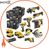 Набір з восьми інструментів акумуляторних DeWALT DCK865P4T