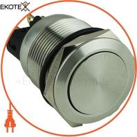 Кнопка металлическая ENERGIO TY22C-P11F плоская под пайку без фиксации IP67 NO+NC