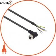 Кабельный гнездовой разъем XZ - угловая розетка - M12 - 4 раз - кабель PUR 10м