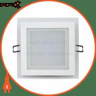 Светильник встраиваемый LED 12W 6400K 744Lm 165-260V 160мм белый квадрат.