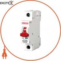 Модульный автоматический выключатель e.industrial.mcb.100.1.C6, 1 р, 6А, C,  10кА