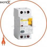 Выключатель дифференциальный (УЗО) ВД1-63S 2Р 25А 100мА IEK