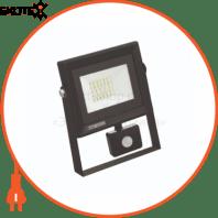 Прожектор с дат. движения SMD LED 20W 6400K 1600Lm 220-240V IP65 черный