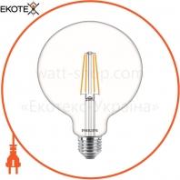 Лампа светодиодная Philips Filament LED Classic 6-60 Вт G120 E27 830 CL NDAPR