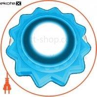 DownLight с подсветкой 3+3W встраиваемый круг, солнце синий