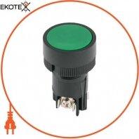 Кнопка пластиковая без фиксации e.mb.ea135 зеленая 1NO+1NC