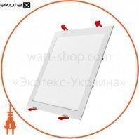 Светильник светодиодный встраиваемый потолочный DELUX CFR LED 10 4100К 220В 24Вт квадрат