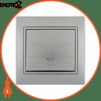 Выключатель промежуточный 701-1010-107 Цвет Серый металлик 10АХ 250V~