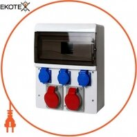 Монтажный набор-1х16А (230/400V) 2,5 кв. мм,1х32а (230 / 400V) 4 кв. мм, 3х16а 230V 1,5 кв. мм, 13 мод.