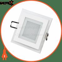 Светильник встраиваемый LED 6W 6400K 480Lm 165-260V 96мм белый квадрат.