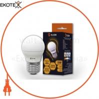 LED лампа G45 5Вт E27 шар ELCOR