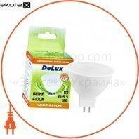 лампа светодиодная DELUX MR16A 5Вт 4100K 12В GU5.3 белый