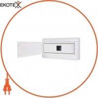 Корпус пластиковый навесной (NT) 18-модульный, однорядный, IP 55 c непрозрачной дверкой