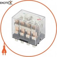 Реле проміжне з LED-індикацією e.control.p1046L, 10А, 230В AC, на 4 групи контактів
