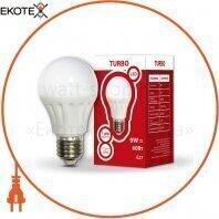 Светодиодная LED лампа TURBO 534308 А60 9Вт Е27шар 650Лм 4200К