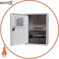 Корпус e.mbox.stand.n.f1.12.z металлический, под 1-ф. счётчик, 12 мод., навесной, с замком