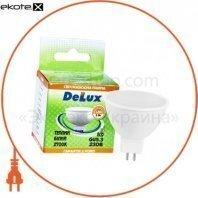 лампа светодиодная DELUX JCDR 5Вт 2700K 220В GU5.3 теплый белый