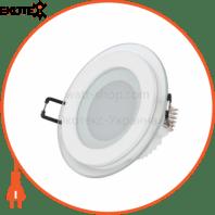 Светильник встраиваемый LED 6W 6400K 480Lm 165-260V d-96мм белый круг.