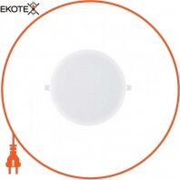 Светильник встраиваемый LED 20W 6400K 1375Lm 165-260V d-173мм белый круг.
