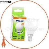 лампа светодиодная DELUX BL50P 7 Вт 4100K 220В E27 белый