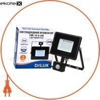 Прожектор светодиодный FMI 10 S LED 30Вт 6500K IP44 с датчиком движения
