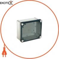 Пластиковая промышленная коробка , прозрачная крышка 125х80х65