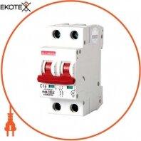 Модульный автоматический выключатель e.industrial.mcb.100.2.C16, 2 р, 16А, C,  10кА