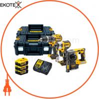 Набір з трьох інструментів безщіткових DeWALT DCK368P3T