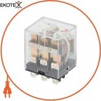 Реле проміжне з LED-індикацією e.control.p1036L, 10А, 230В AC, на 3 групи контактів