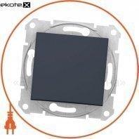 Sedna Переключатель 1 полюсный двунаправленный с 10AX индикатором, без рамки графит