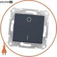Sedna Кнопка 1 полюсная - 10A, 12 В световой индикатор, без рамки beige