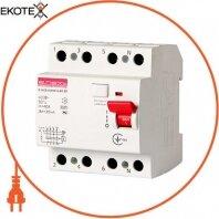 Выключатель дифференциального тока e.rccb.stand.4.40.30 4р, 40А, 30mA
